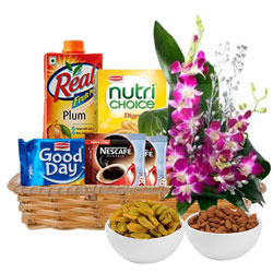 Deliver Gift Basket of Healthy Gourmets