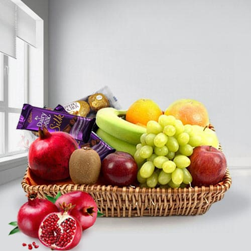 Sending Fruits Basket with Assorted Chocolates
