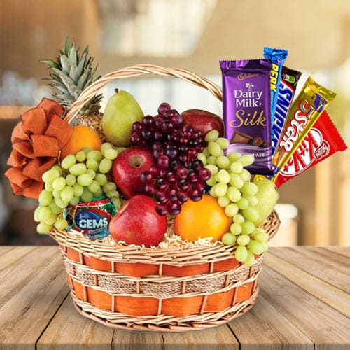 Online Fruits N Chocolates Fusion Gift Basket