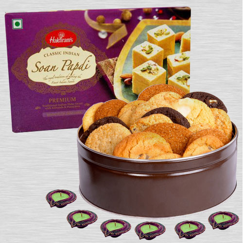 Diwali Sweets with Cookies n Free Diyas