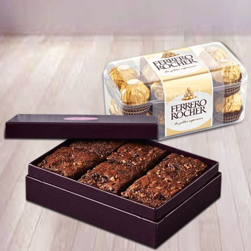 Shop for Brownies with Ferrero Rocher Chocolates