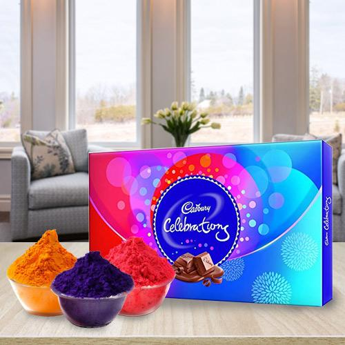 Exciting Herbal Gulal with Cadbury Chocolates