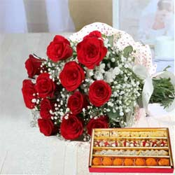 Bright Red Roses and lip-smacking Sweets