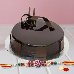 Enthralling Choco Cake with Rakhi