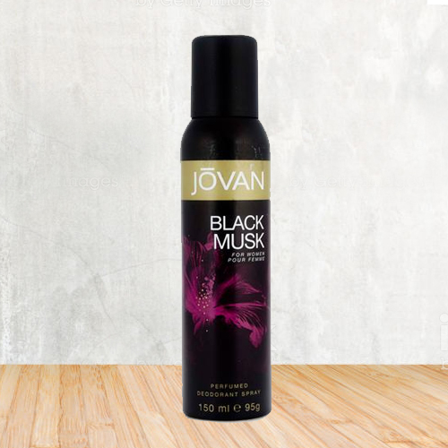 Charming Smell with Jovan Black Musk Deo 150 ml. for Women