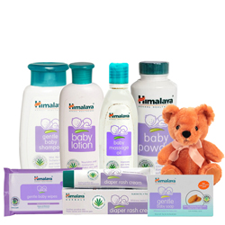 Online Himalaya Baby Care Gift Pack with Teddy