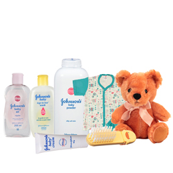 Admirable Johnson Baby Gift Set with Sweet Love