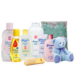 Buy Johnson Baby Care Pack with Teddy