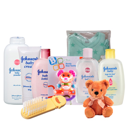 Appealing Johnson Baby Care Gift Combo with Sweet Love