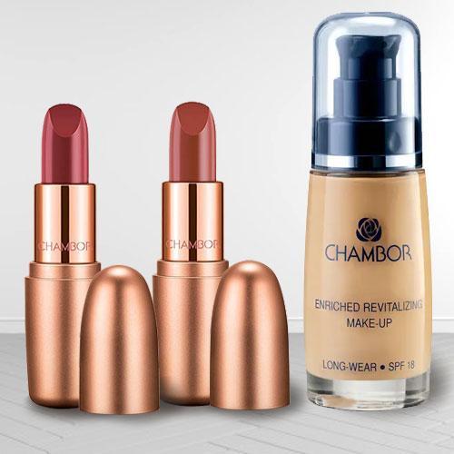 Remarkable Chambor Make Up N Matte Lipstick Set