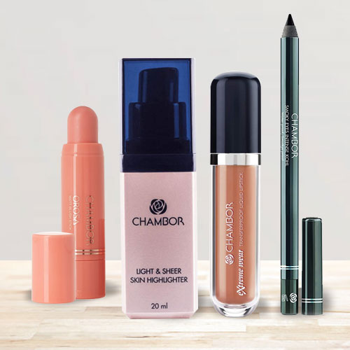 Marvelous Chambor Smoky Eyes With Lipstick N Skin Makeup