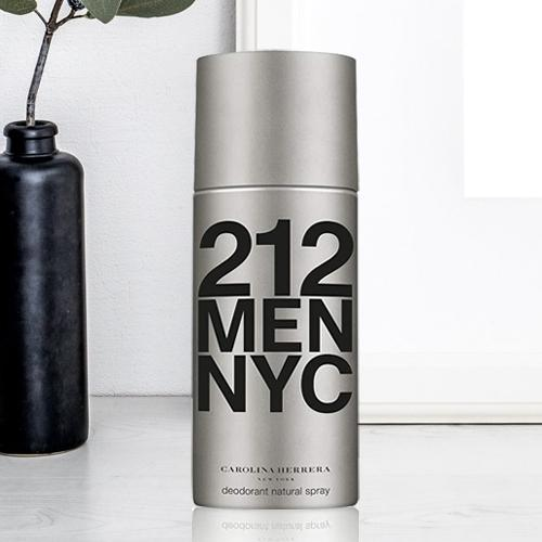 Lovely Gift of Carolina Herrera 212 NYC Deodorant for Men