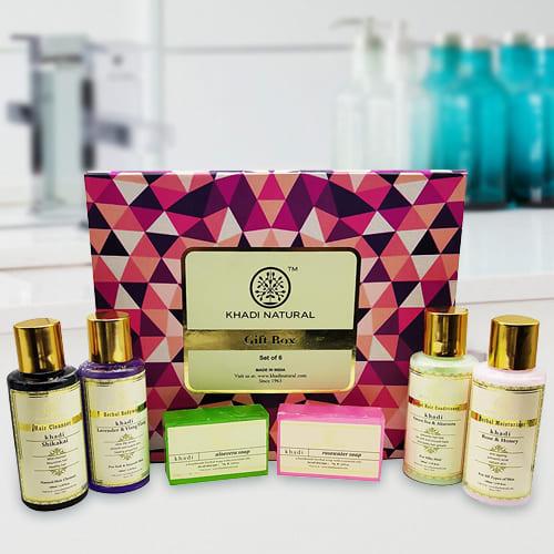 Attractive Khadi Natural Skin N Hair Care Gift Pack