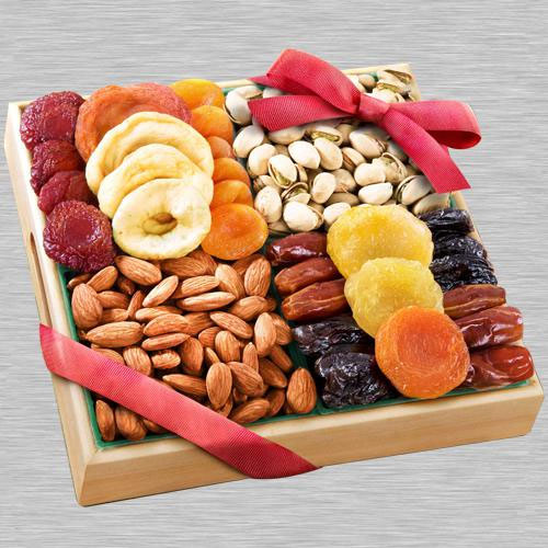 Astonishing Gift of Dry Fruits Tray for Mom