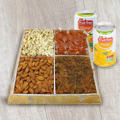 Deliciousness's Height Dry Fruit and Beverage Assortment