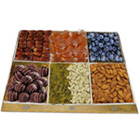 Garnished Menu Dry Fruit and Chocolate Platter