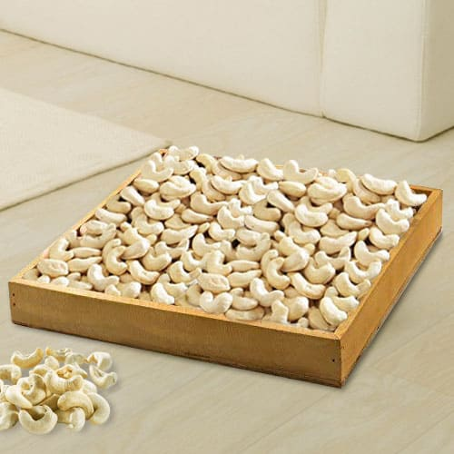 Sending Cashews in Wooden Tray