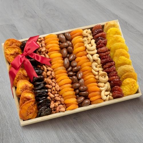 Tasty Dried Fruits and Nuts Gift Tray