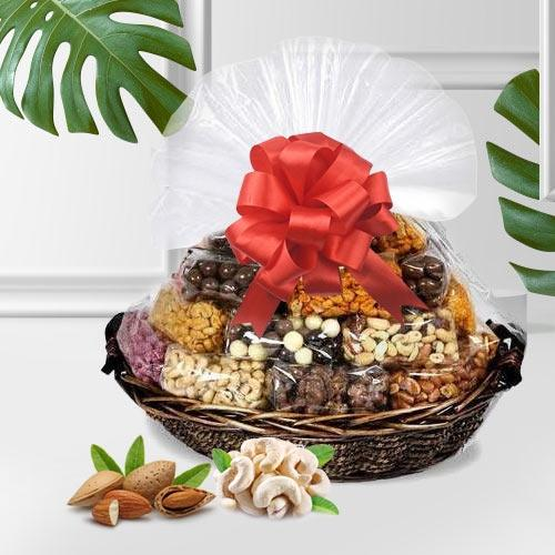 Delectable Assorted Dry Fruits Gift Basket