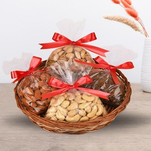 Delectable Assorted Dry Fruits Basket