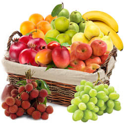 Supple Fresh Fruits Basket Hamper