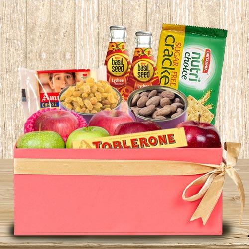 Tasty Fresh Fruits N Assortments Gift Box