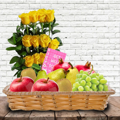 Fruits n Flowers for Get Well Soon