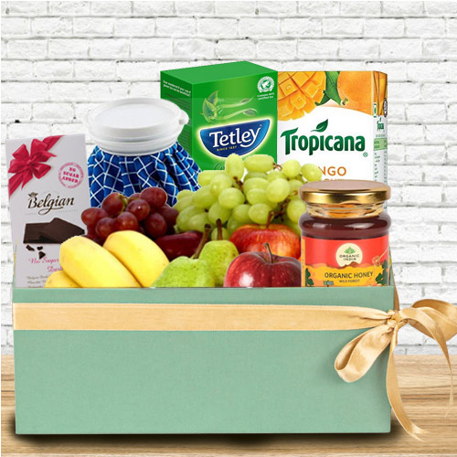 Tasty Box of Fresh Fruits N Assortments