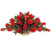 Beautiful 24 Archangelic Red Roses Arrangement
