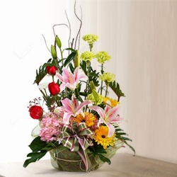 Exotic Arrangement of Mixed Flowers