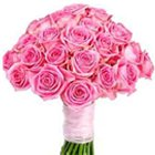 Beautiful bouquet of 30 bright Pink Roses