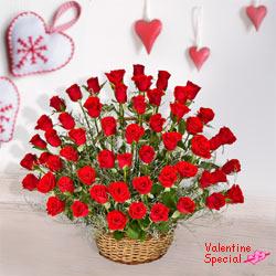 51 Exclusive <font color =#FF0000> Dutch Red </font>   Roses  Arrangement