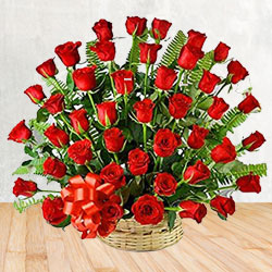Stunning arrangement of 50 Red Roses