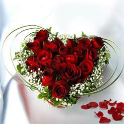 Captivating Red Rose arrangement