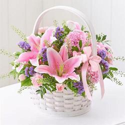 Magnificient bouquet of fresh Lilies