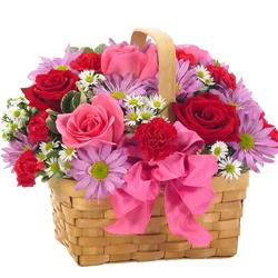 Basket of exquisite Flowers
