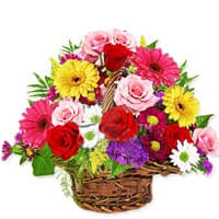 Artistic Flowers Basket