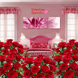 Send Rose Day Gift of Room Full of Roses Arrangement