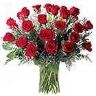 Beautiful Bouquet of 40 Red and White Roses