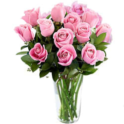 Delicate and Delightful Roses in Vase