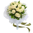 Stunning White Roses Bunch