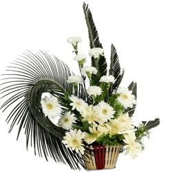 Elegant Around the World Carnation N Gerberas Bunch