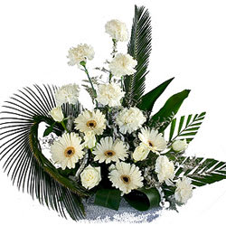 Elegant Around the World Carnation N Gerberas Bunch