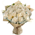 Affectionate Gesture White Carnations Bouquet