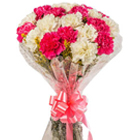 Classic Arrangement of White N Pink Carnations