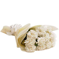 Graceful Unforgettable You White Carnations Arrangement