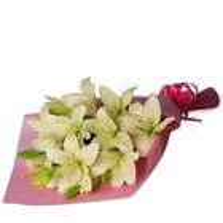 Magnificent Fineness Bouquet of White Lilies