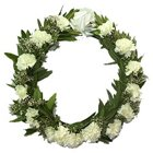 Pristine Always and Forever Carnations Wreath