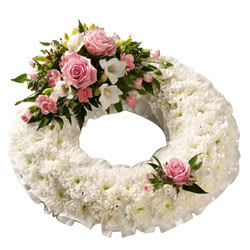 Wreath of Roses and Carnations