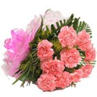 Charming Bunch of Carnations in Pink Colour